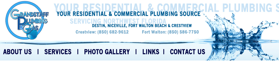 Crestview Plumbers Ft Walton Beach Plumber Grandstaff Plumbing - Bathroom remodel fort walton beach fl